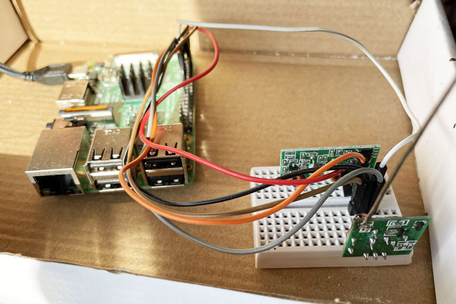 Raspberry Pi with radio transmitter