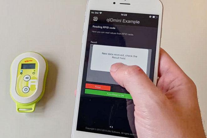Reading UHF RFID tags on iPhone